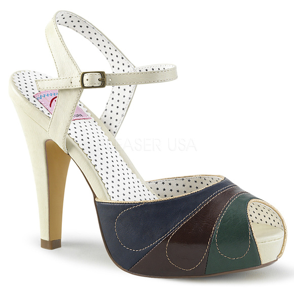 d83799acc9 Shoes | Platform Peep Toe Ankle Pin Up High Heels | Poshmark